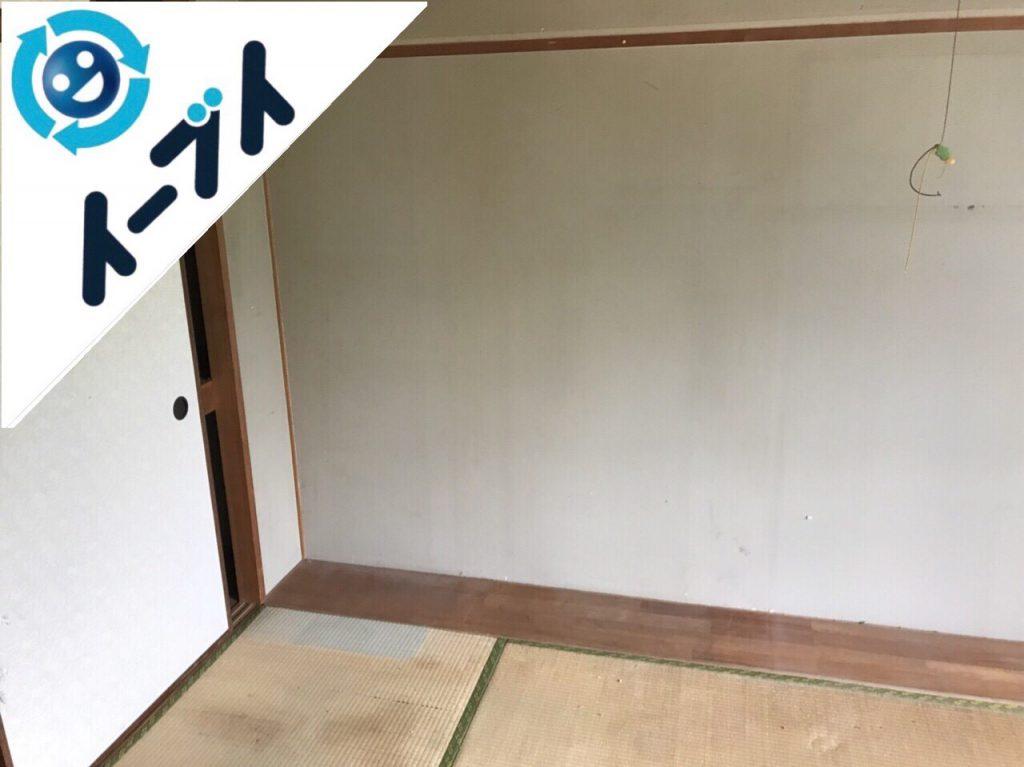 2018年8月30日大阪府高石市でゴミ屋敷の片付け作業をしました。写真1