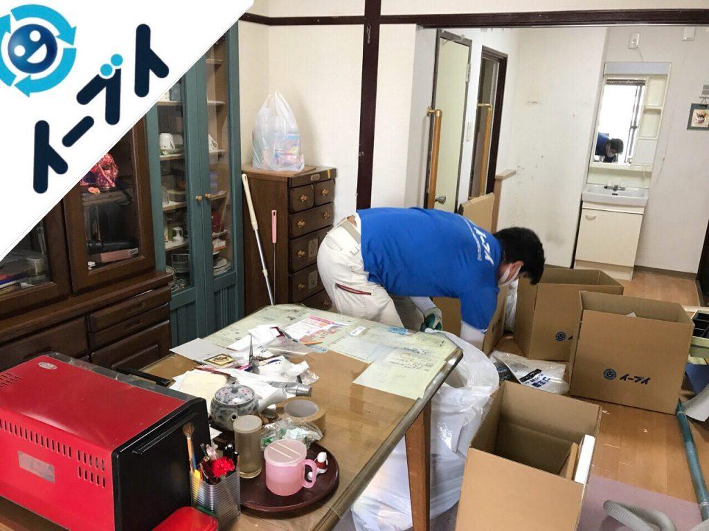 2018年8月29日大阪府岸和田市で引越しに伴い絨毯や食器棚など不用品回収と片付け作業。写真1