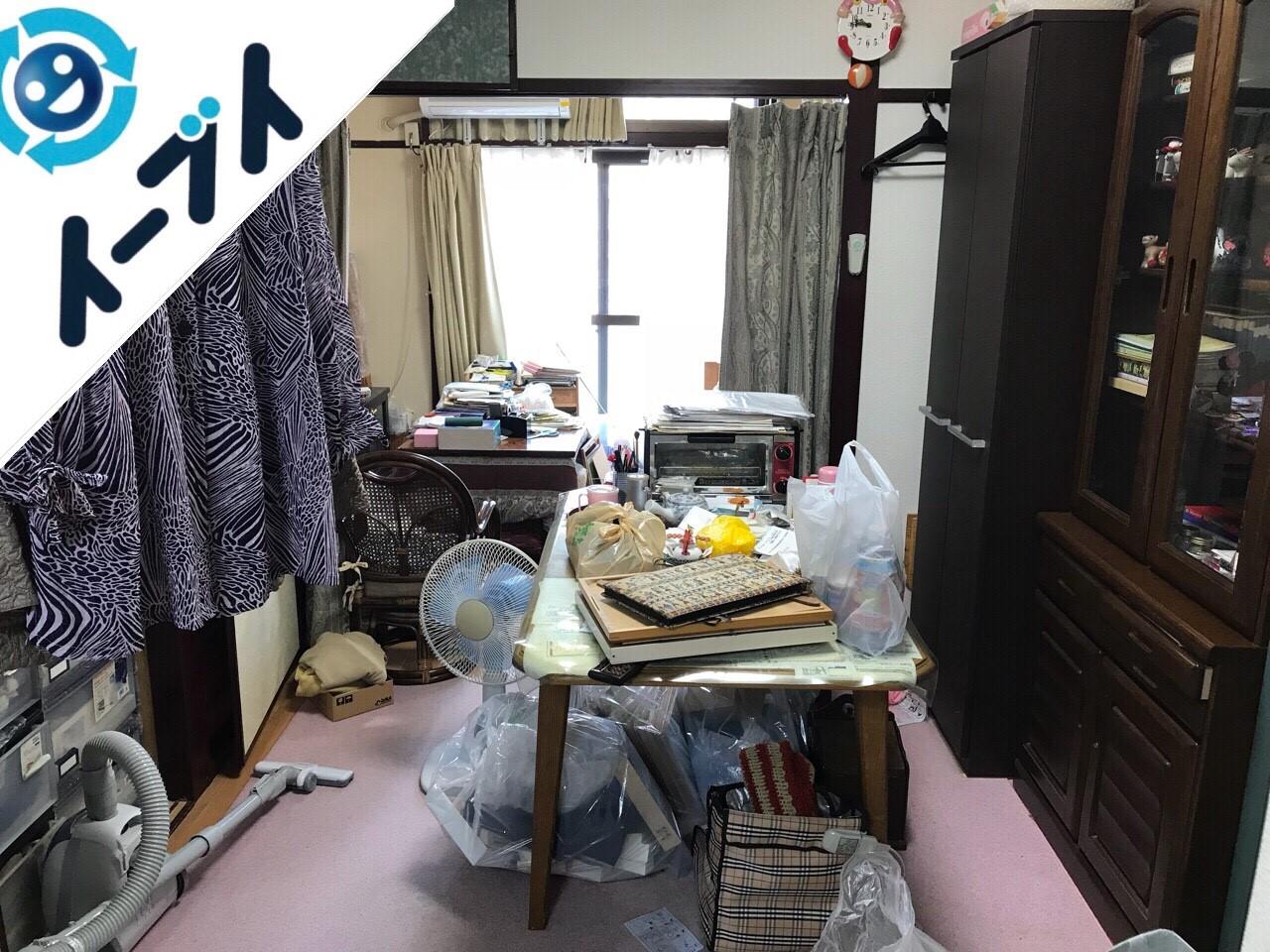 2018年8月29日大阪府岸和田市で引越しに伴い絨毯や食器棚など不用品回収と片付け作業。写真3