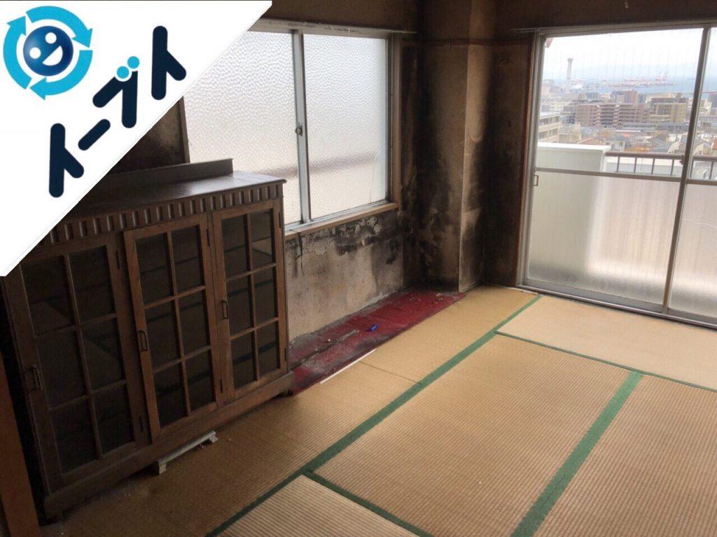 2018年8月31日大阪府堺市西区で引越しゴミや布団や絨毯など粗大ゴミの不用品回収。写真1