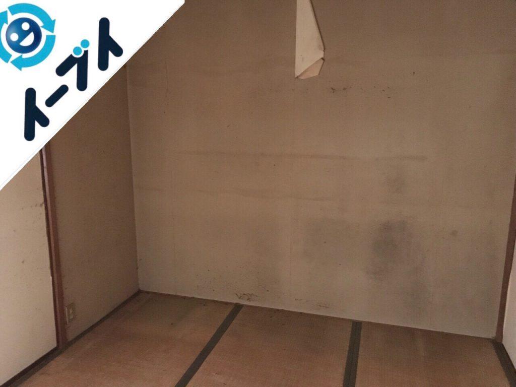 2018年8月25日大阪府河内長野市で二段ベッドや絨毯など粗大ゴミの不用品回収作業。写真2