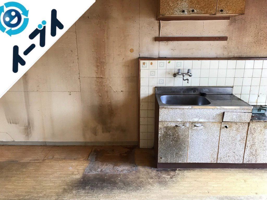 2018年8月28日大阪府貝塚市でレンジ台や冷蔵庫やテーブルなど不用品回収をしました。写真4