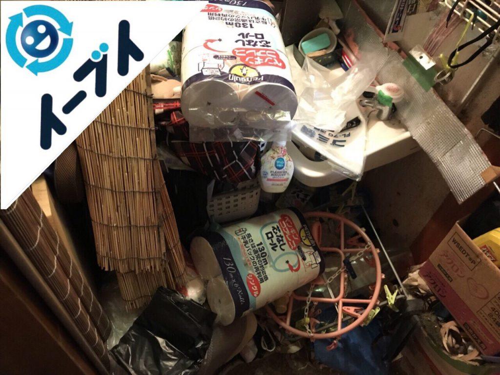 2018年9月11日大阪府守口市で物が溢れたゴミ屋敷状態の汚部屋の片付け。写真2