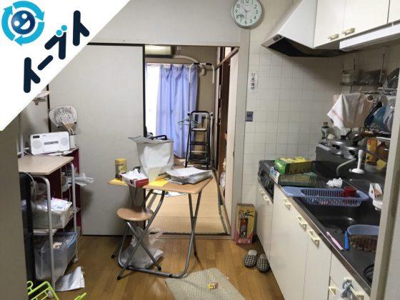 2018年9月24日大阪府富田林市で炊飯器やガスコンロなど引越しゴミの不用品回収。写真4