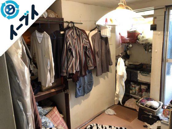 2018年9月13日大阪府泉大津市で引越しに伴い衣類や粗大ゴミの不用品回収。写真2
