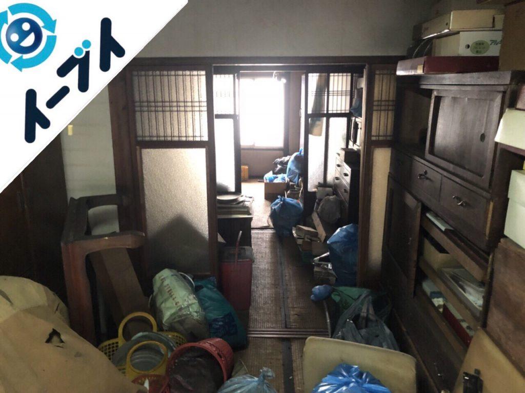 2018年9月23日大阪府岬町で空き家整理に伴い家具処分や生活ゴミのかたづけをしました。写真2