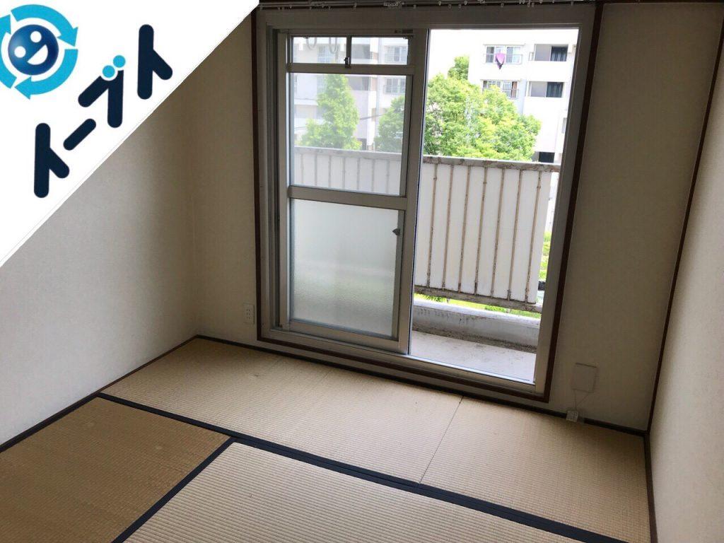 2018年9月29日大阪府堺市美原区で鳩除けネットの取り外しやタンスと絨毯の不用品回収。写真4ページ