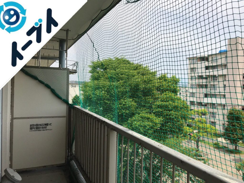 2018年9月29日大阪府堺市美原区で鳩除けネットの取り外しやタンスと絨毯の不用品回収。写真3