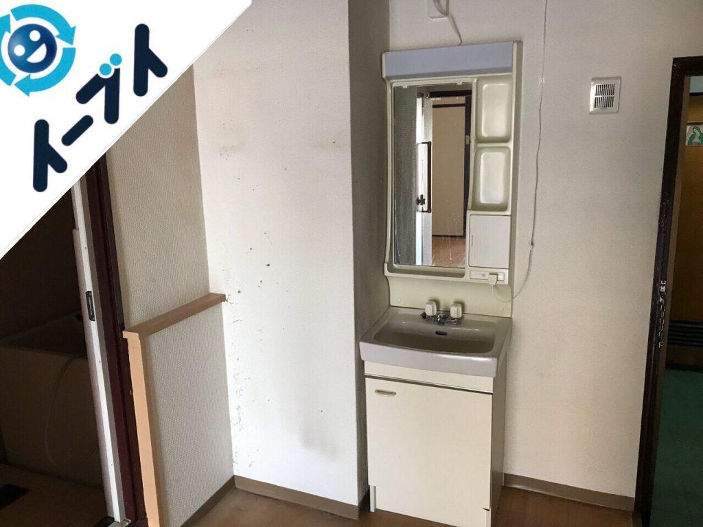 2018年9月14日大阪府泉南市で本棚や大型の冷蔵庫の不用品回収をしました。写真1月
