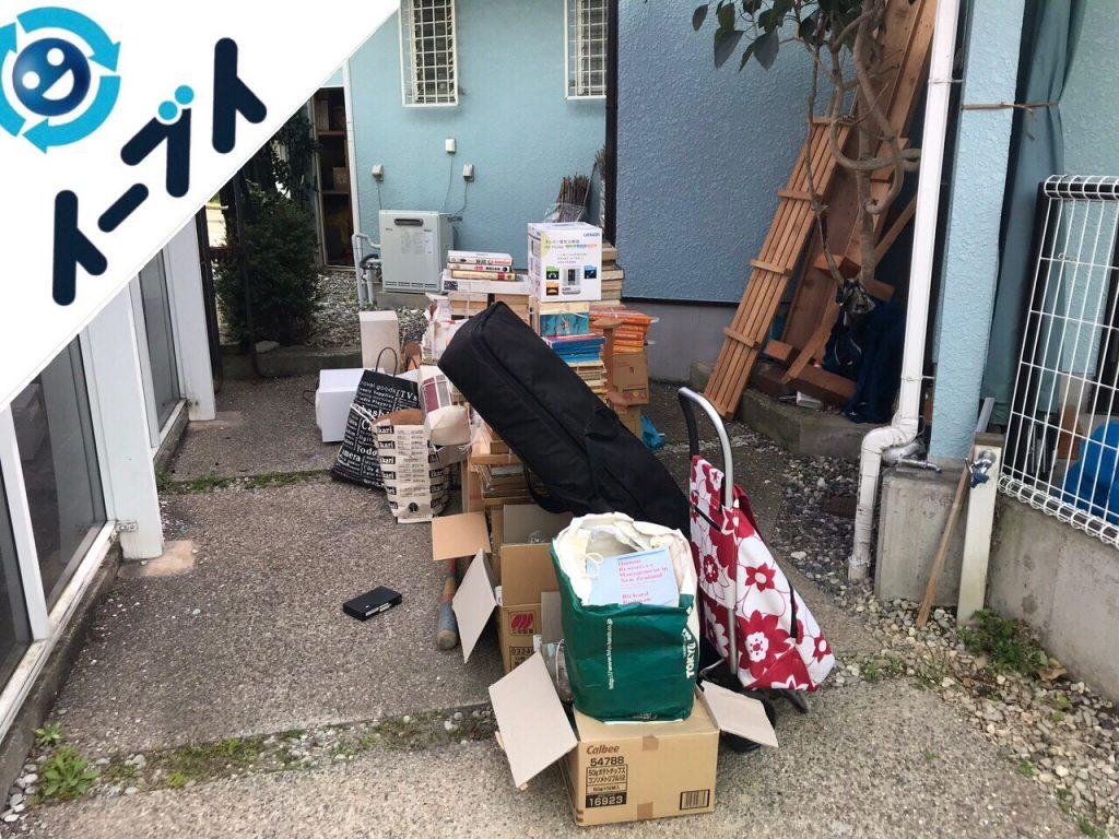 2018年9月21日大阪府和泉市でキャンプ用品や廃品など物置の中の不用品回収。写真3