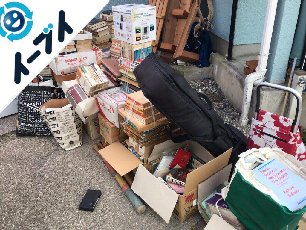 2018年9月21日大阪府和泉市でキャンプ用品や廃品など物置の中の不用品回収。写真2