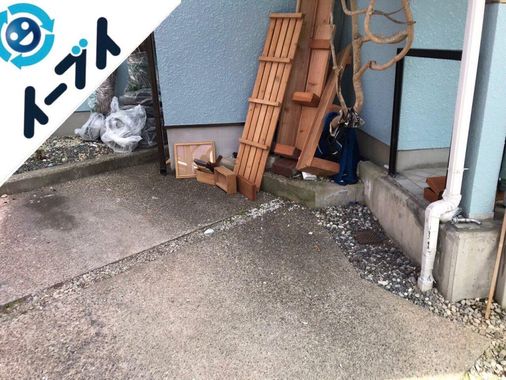 2018年9月21日大阪府和泉市でキャンプ用品や廃品など物置の中の不用品回収。写真1月