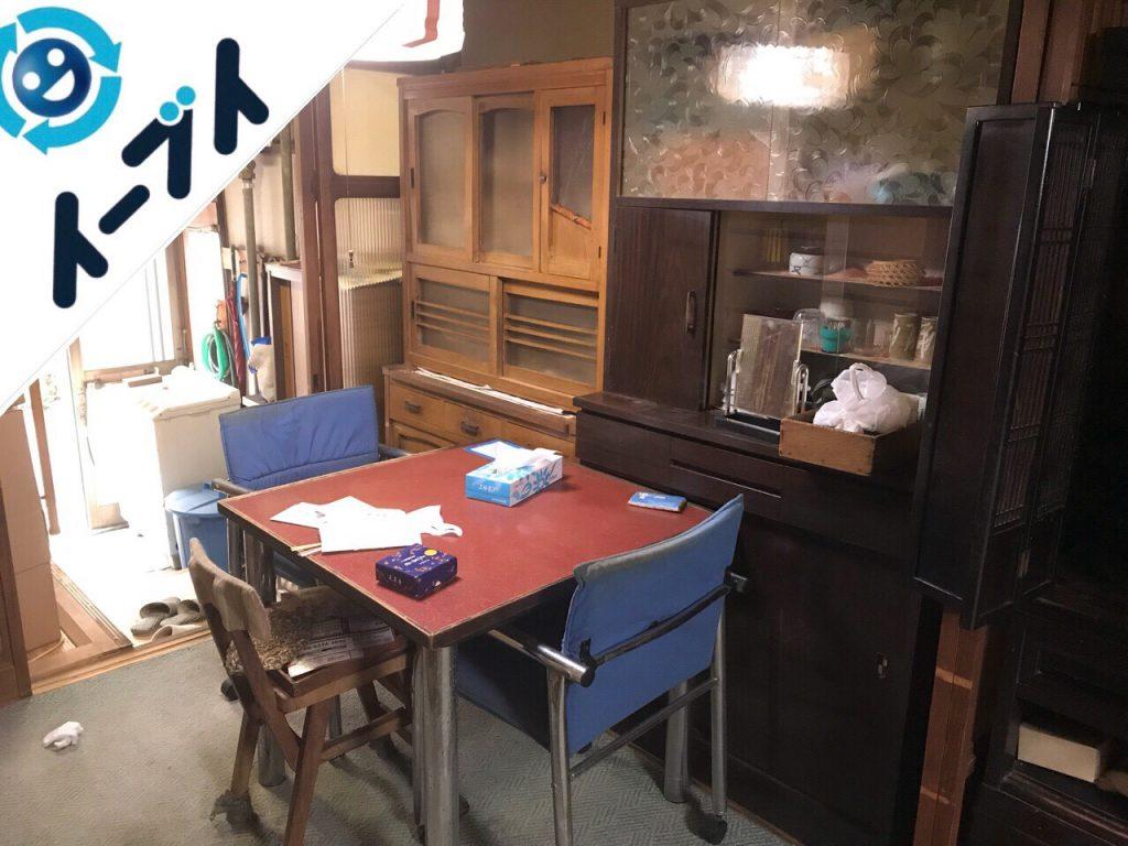 2018年9月15日大阪府太子町で空き家整理に伴い家具処分や生活用品の片付けをしました。写真4