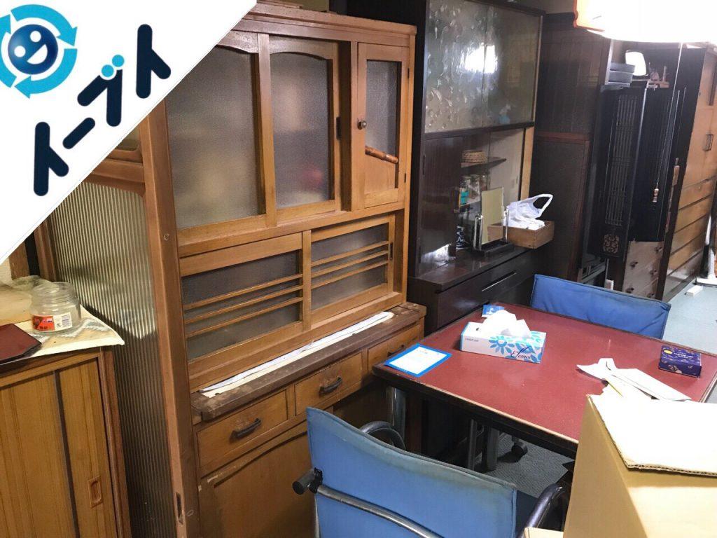 2018年9月15日大阪府太子町で空き家整理に伴い家具処分や生活用品の片付けをしました。写真2