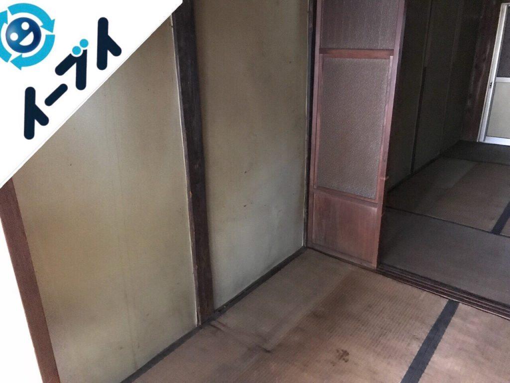 2018年9月15日大阪府太子町で空き家整理に伴い家具処分や生活用品の片付けをしました。写真1