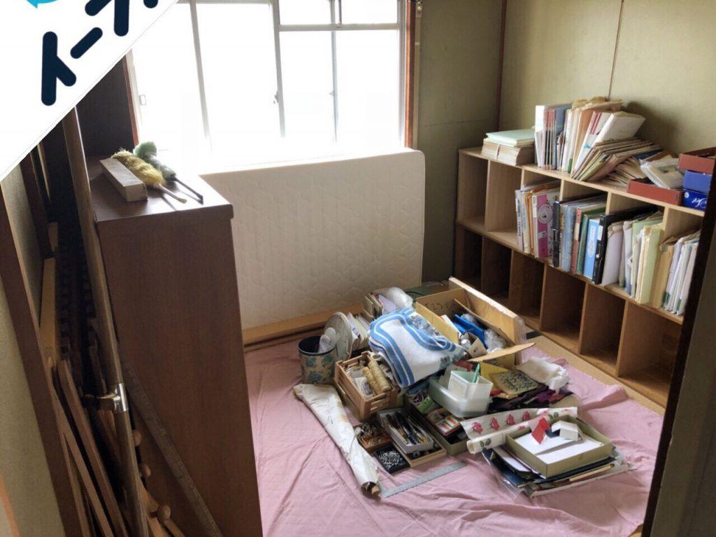 2018年9月18日大阪府島本町で鏡台やタンスの大型ゴミや絨毯などの不用品回収作業。写真4