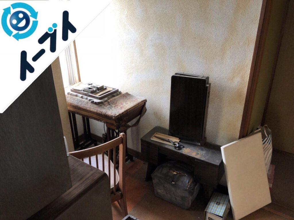 2018年9月20日大阪府堺市南区で足踏みミシンや家具処分や粗大ゴミの不用品回収をしました。写真2