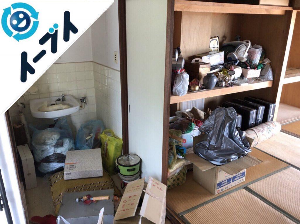 2018年10月1日大阪狭山市で押入れのスーツケースや扇風機など粗大ゴミの不用品回収。写真2