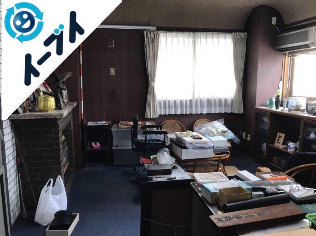 2018年9月12日大阪府泉佐野市で事務用品や家具処分と不用品回収。写真4