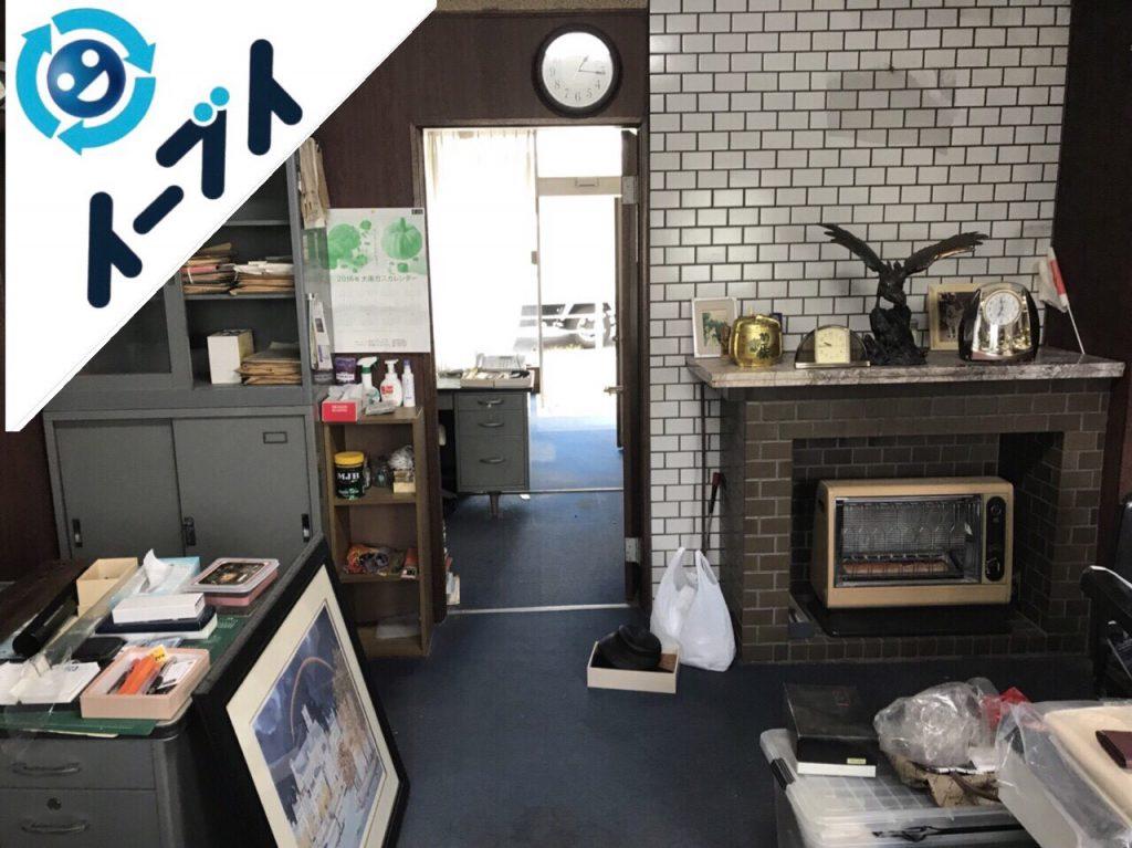 2018年9月12日大阪府泉佐野市で事務用品や家具処分と不用品回収。写真2