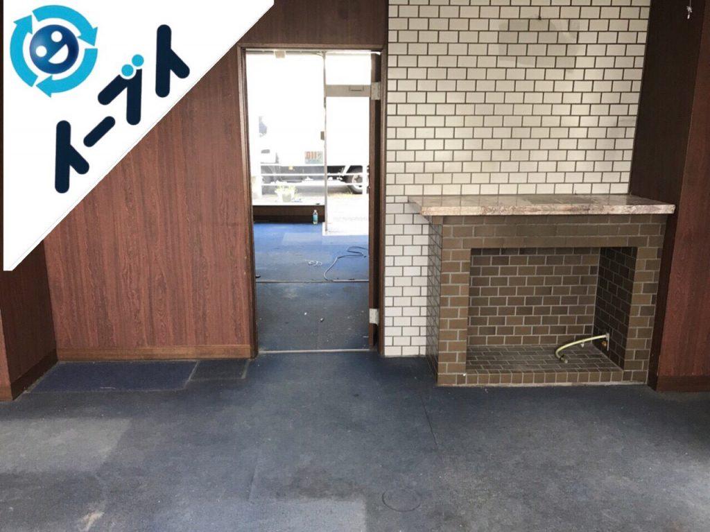 2018年9月12日大阪府泉佐野市で事務用品や家具処分と不用品回収。写真1