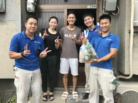 大阪府大阪市旭区のお客様より台風の被害で出たゴミの処分とお部屋のお片付けで弊社をご利用頂きました。