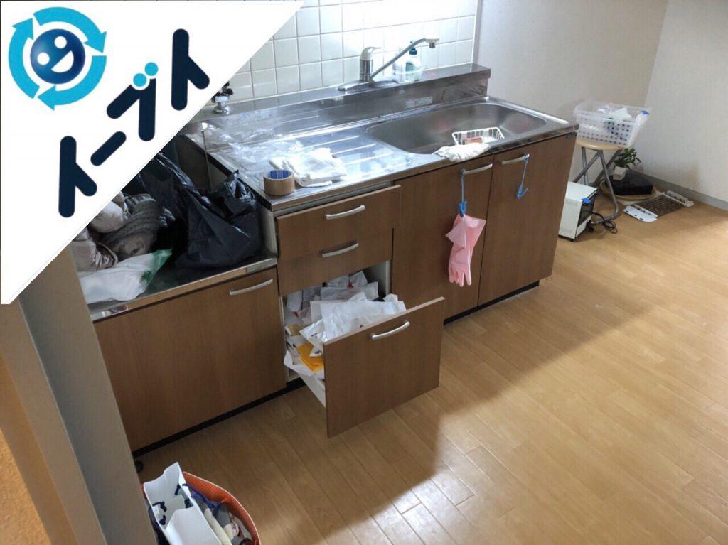 2018年10月11日大阪府大阪市西区でベッドや掃除機など引越しゴミと粗大ゴミの不用品回収。写真4