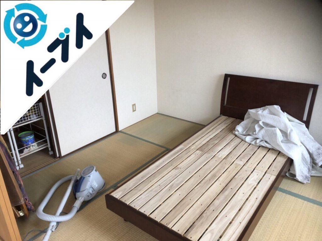 2018年10月11日大阪府大阪市西区でベッドや掃除機など引越しゴミと粗大ゴミの不用品回収。写真2