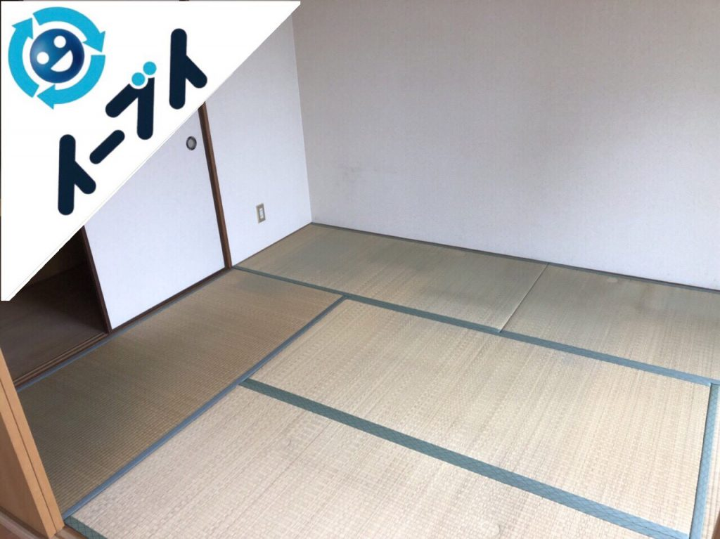 2018年10月11日大阪府大阪市西区でベッドや掃除機など引越しゴミと粗大ゴミの不用品回収。写真1
