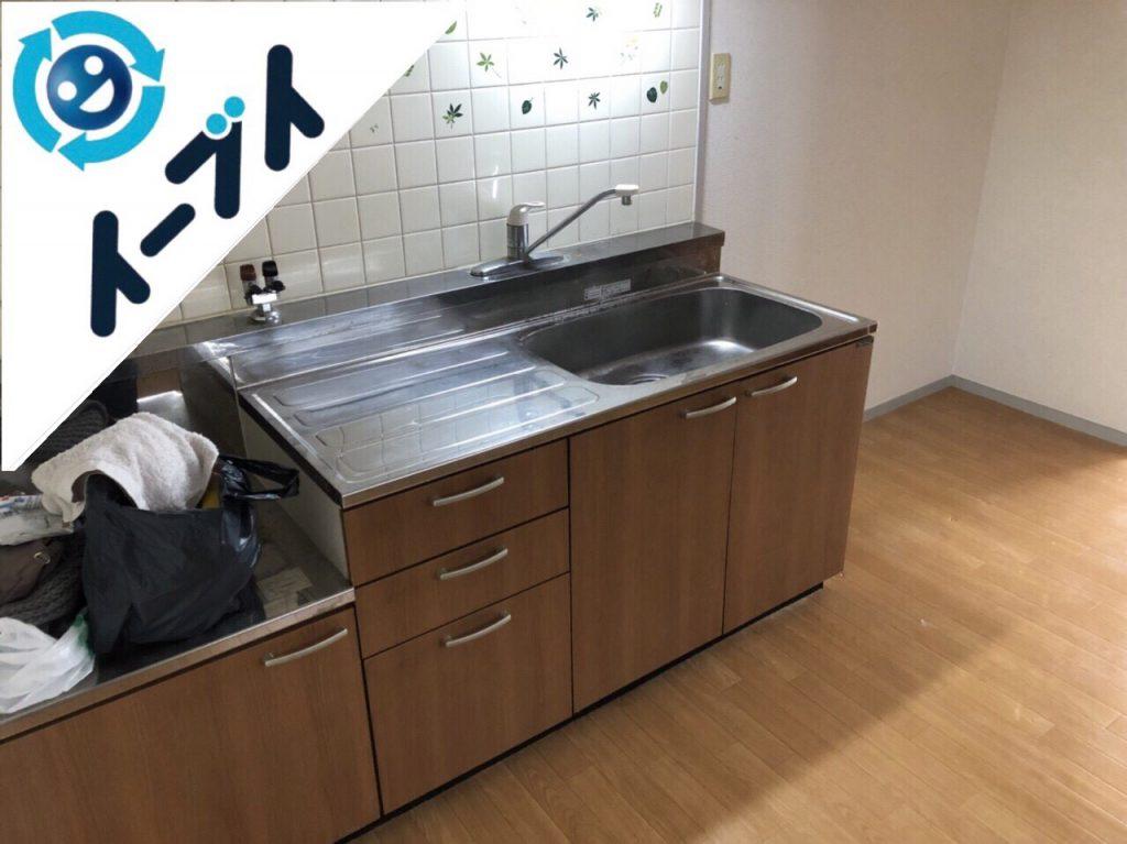 2018年10月11日大阪府大阪市西区でベッドや掃除機など引越しゴミと粗大ゴミの不用品回収。写真3