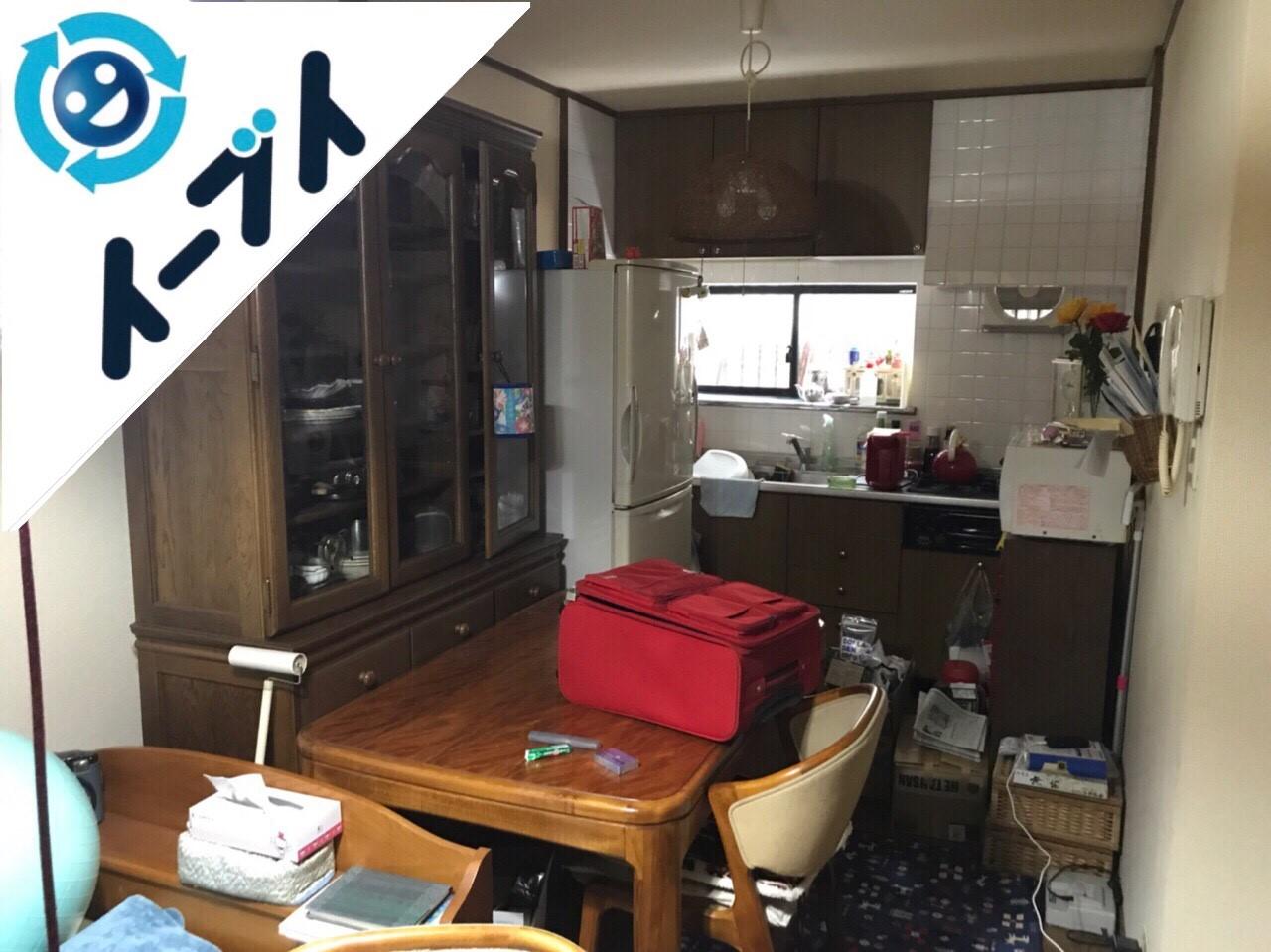 大阪府大阪市城東区でダイニングテーブルや食器棚など大型家具の不用品回収をしました。4