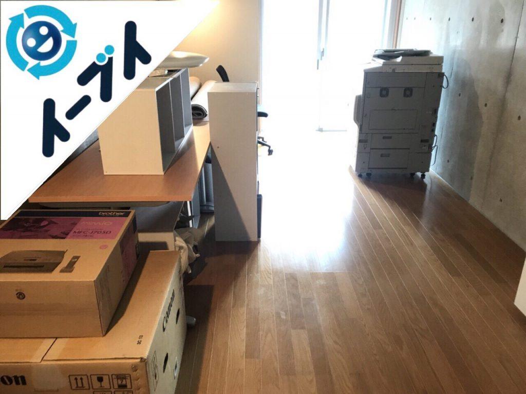 2018年10月17日大阪府大阪市天王寺区で事務所移転のためコピー機や複合機など事務用品の回収処分。写真6