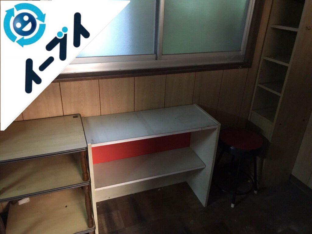 2018年10月28日大阪府大阪市西淀川区で使わなくなったスプレー缶や化粧品など片付けと不用品回収。写真4