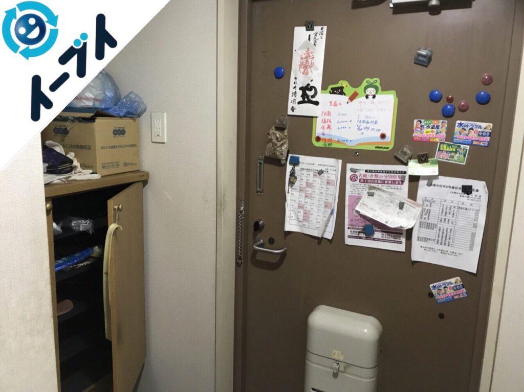 大阪府大阪市城東区でダイニングテーブルや食器棚など大型家具の不用品回収をしました。2
