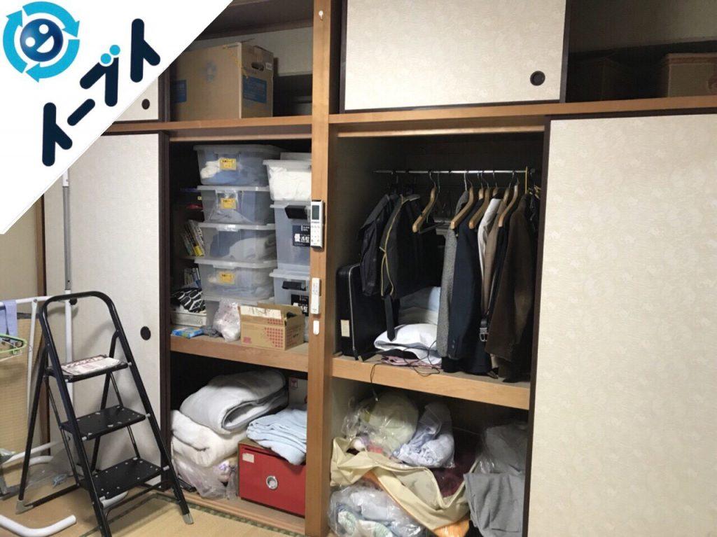 2018年10月24日大阪府和泉市で衣裳ケースや布団など大掃除に伴う不用品回収をしました。写真5