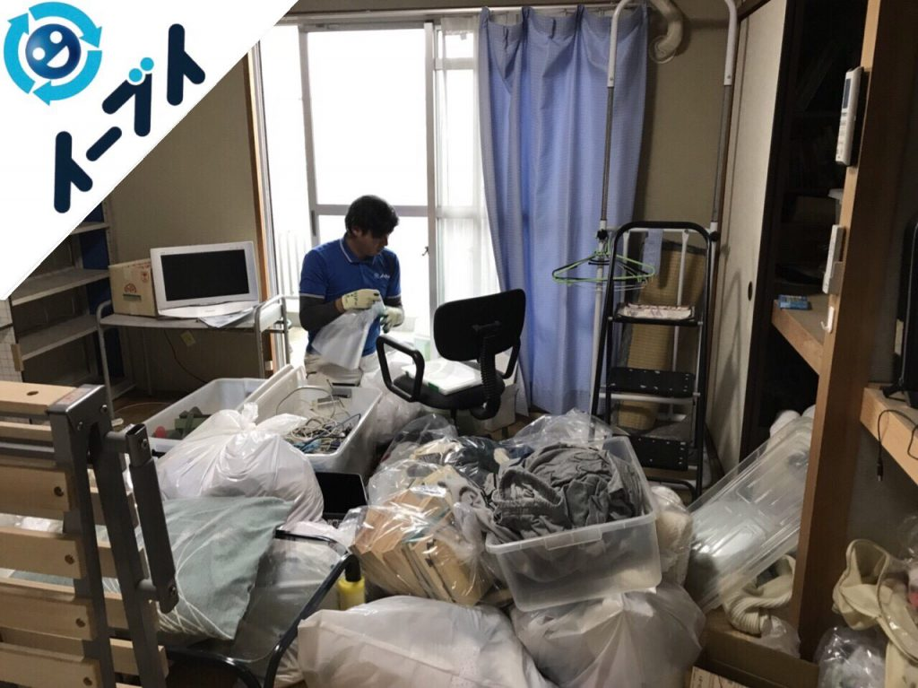 2018年10月24日大阪府和泉市で衣裳ケースや布団など大掃除に伴う不用品回収をしました。写真1月