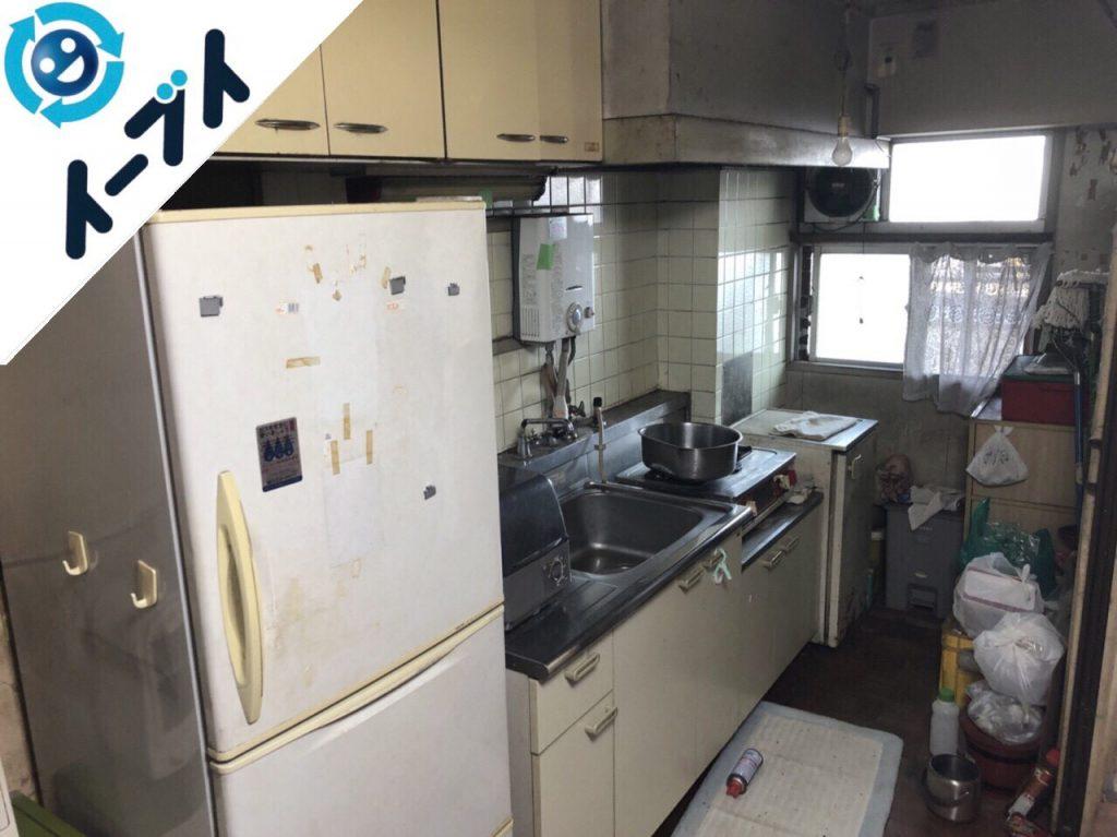 2018年11月2日大阪府泉大津市で冷蔵庫や台所のゴミの片付けと不用品回収。写真4