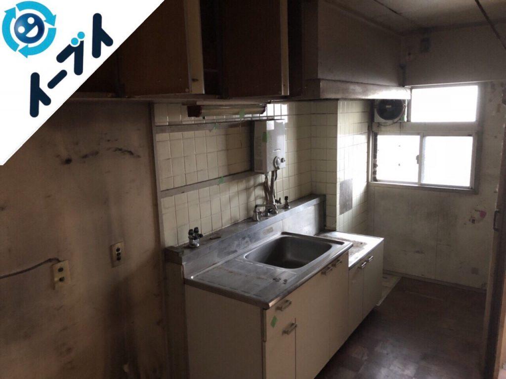 2018年11月2日大阪府泉大津市で冷蔵庫や台所のゴミの片付けと不用品回収。写真3