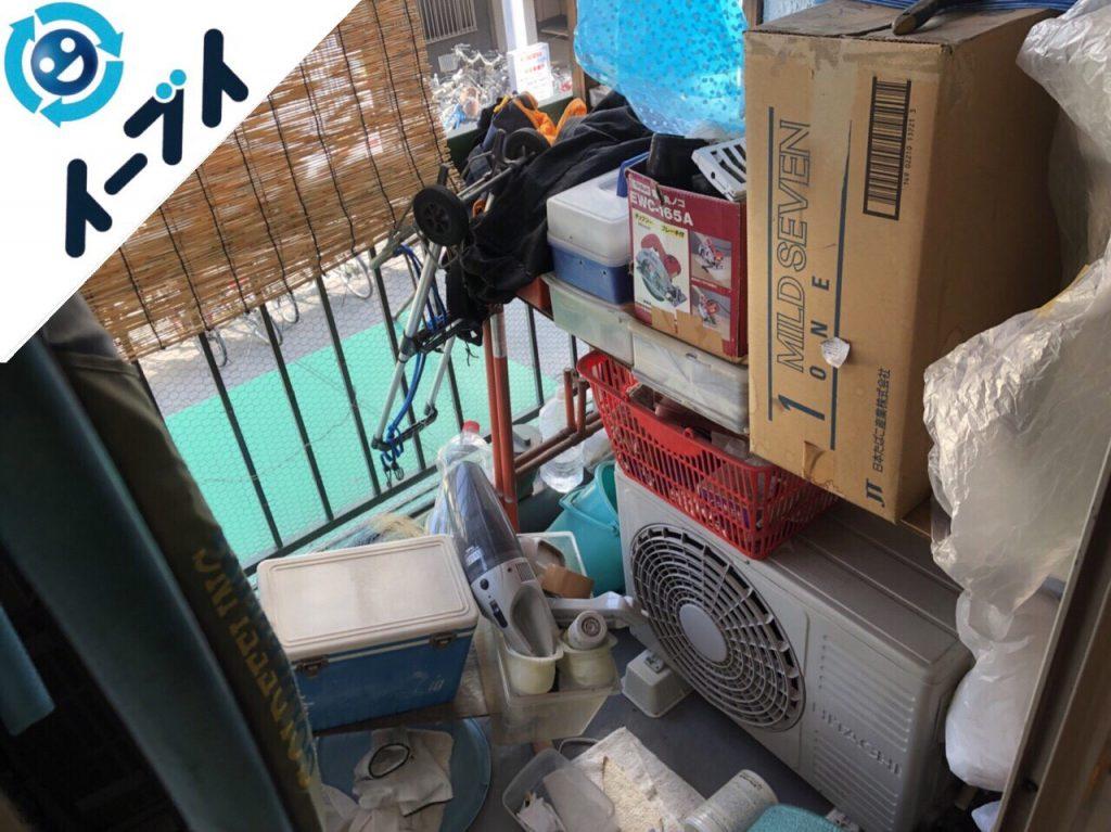2018年11月3日大阪府大阪市東成区で冷蔵庫やキャンプ用品など粗大ゴミの不用品回収。写真4