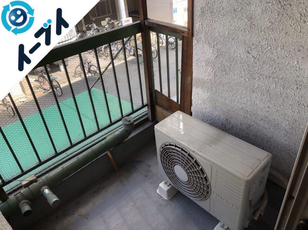 2018年11月3日大阪府大阪市東成区で冷蔵庫やキャンプ用品など粗大ゴミの不用品回収。写真3