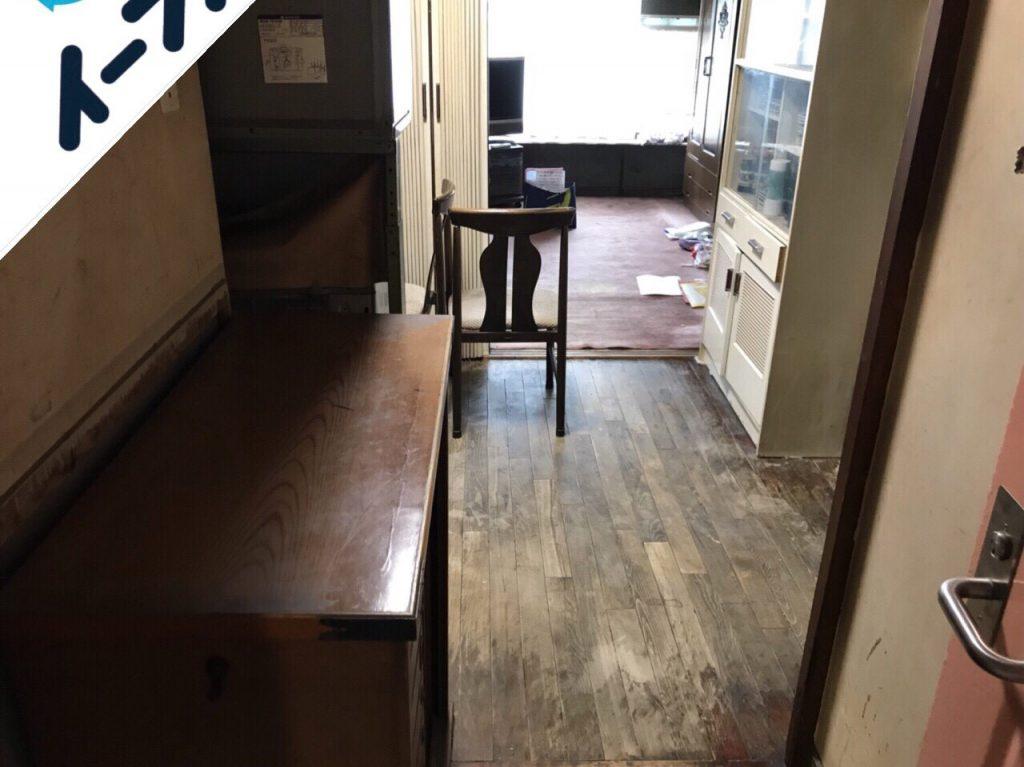 2018年10月12日大阪府大阪市西淀川区で下駄箱と絨毯と洗濯機の不用品回収作業。写真6