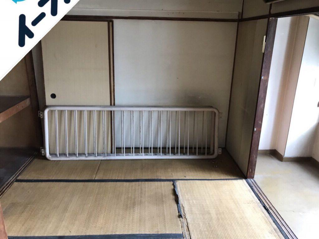 2018年10月7日大阪府大阪市住之江区で本棚や古本と布団など粗大ゴミの不用品回収。写真3