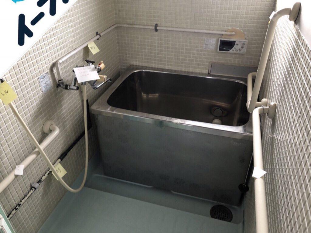 2018年10月9日大阪府大阪市生野区で風呂釜の取り外しと布団など粗大ゴミの不用品回収。写真4