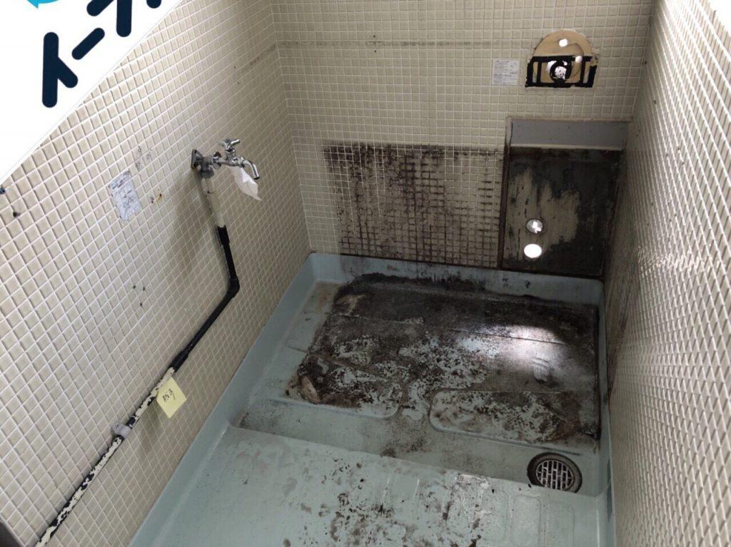 2018年10月9日大阪府大阪市生野区で風呂釜の取り外しと布団など粗大ゴミの不用品回収。写真3