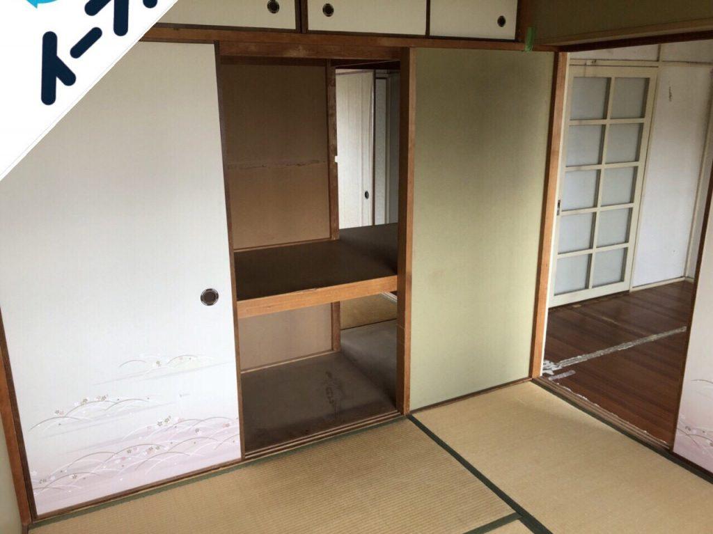 2018年10月9日大阪府大阪市生野区で風呂釜の取り外しと布団など粗大ゴミの不用品回収。写真1