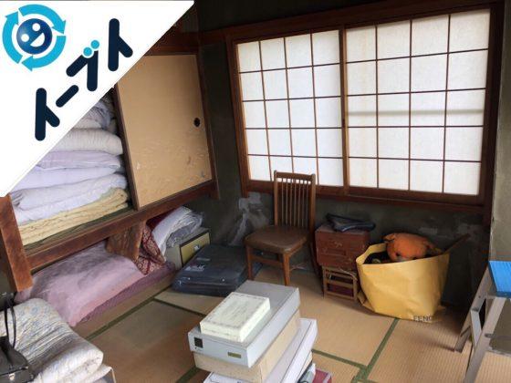 2018年10月26日大阪府大阪市東成区でハンガーラックや布団など粗大ゴミの不用品回収の依頼。写真4