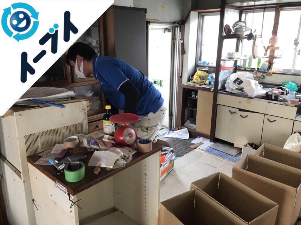 2018年10月15日大阪府大阪市西成区で食器や調理道具など生活用品の粗大ゴミの片付けをしました。写真3