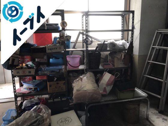 2018年10月19日大阪府大阪市都島区で倉庫のラックやソファなどの廃品や粗大ゴミの不用品回収。写真4