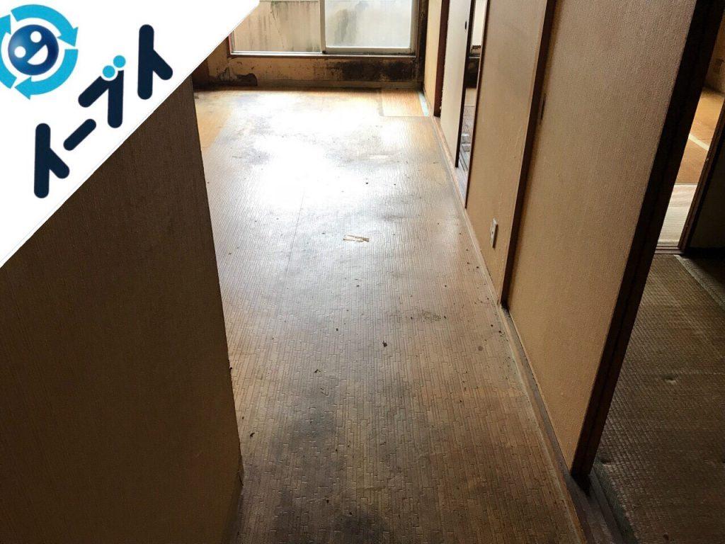 2018年10月16日大阪府大阪市鶴見区でベランダの洗濯機や食器棚など家具処分と不用品回収。写真3