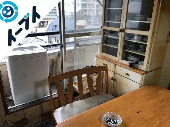 2018年10月16日大阪府大阪市鶴見区でベランダの洗濯機や食器棚など家具処分と不用品回収。写真2